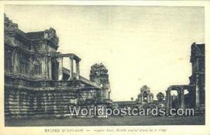 Ruines D'Angkor Cambodia, Cambodge Angkor, Vath Porche central Nord du 2 efag...