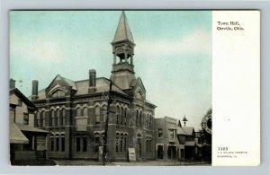 Orrville OH, Town Hall, Vintage Ohio Postcard