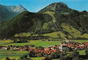 Hindelang im Hochallgaeu Ges Ansicht mit Rotspitze und Imberger Horn
