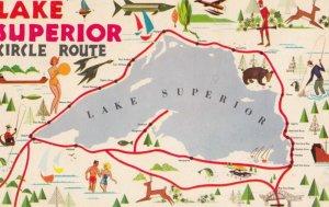 Lake Superior , Circle Route Map , 1972