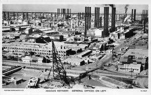 Iran Abadan Refinery General Offices on Left, Oil Factories, Real Photograph