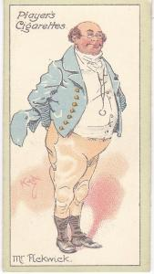 Cigarette Cards Players Characters From Dickens No 16 Mr. Pickwick