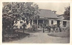 Lyme Center NH Post Office & Store Stage Coach RPPC Postcard