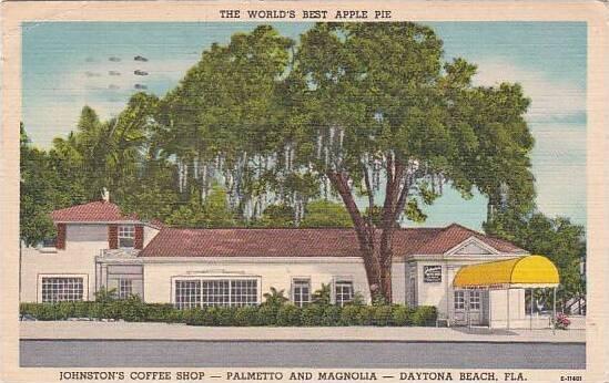 Florida Daytona Beach The Worlds Best Apple Pie Johnstons Coffee Shop Palmett...