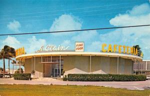 Pompano Beach Florida St Clairs Cafeteria Street View Vintage Postcard K43183