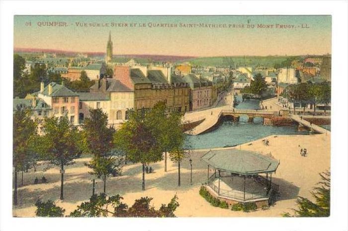 Quimper.-Vue sur le Steir et le Quartier Saint-Mathieu,France, 00-10s