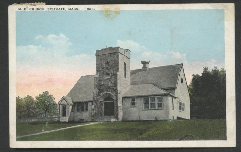 Methodist Episcopal Church Scituate Massachusetts Vintage Postcard