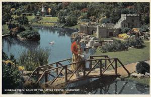 Southport Land Of The Little People Grandma & Child Lancashire Vintage Postcard