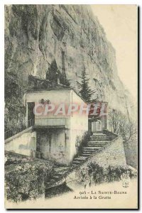 Old Postcard La Sainte Baume Arrive in the Cave