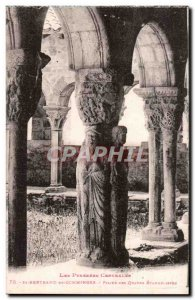 St Bertrand de Comminges Old Postcard Pillar of the four Evangelists