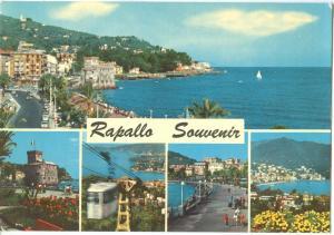 Italy, Rapallo Souvenir, unused Postcard