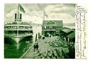 NY - Kingston Point. Landing of The Albany