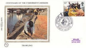 Trawling Fishing Fishermen Stamp Benham First Day Cover
