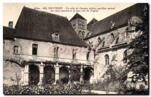 Souvigny Old Postcard A rating of & # 39ancien cloister central pavilion of t...