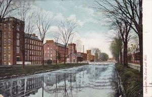 Canal And Mills Lewiston Maine 1909