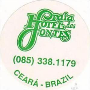 BRASIL CEARA PRAIA HOTEL FONTES VINTAGE LUGGAGE LABEL