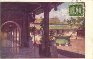 CPA Vietnam Indochine -  Hué - La Cour des lais dans le palais du roi (84909)