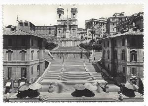 RPPC Italy Rome John Keats Memorial House Spanish Steps