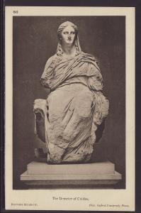 The Demeter of Cnidos,Sculpture Postcard