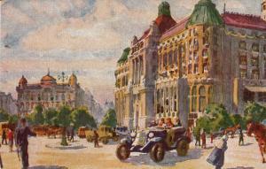 Hungary Budapest place Gellert with hotel Gellert 1927 postcard