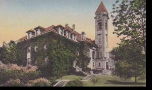 Indiana Bloomington The Tower Student Building Indiana University Handcolored...