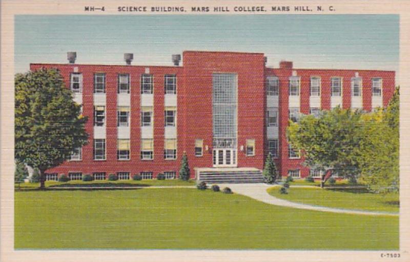 North Carolina Mars Hill Science Building Mars Hill College
