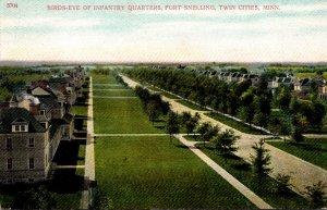 Minnesota Fort Snelling Birds Rye View On Infantry Quarters