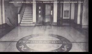 Colorado Colorado Springs Lobby Main Building Inlaid I T U Emblem Apparent Ar...