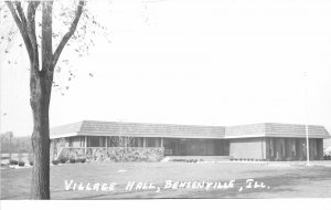 G34/ Bensenville Illinois RPPC Postcard c1950s Village Hall Building 3