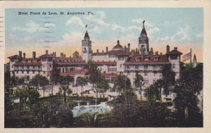 Hotel Ponce De Leon, St. Augustine, Florida, PU-1921