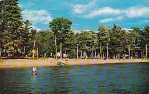 Wisconsin Shawano Lake Shawano Lake Park Beach 1958