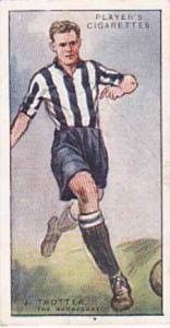 Player Vintage Cigarette Card Footballers 1928 No 44 J Trotter The Wednesday