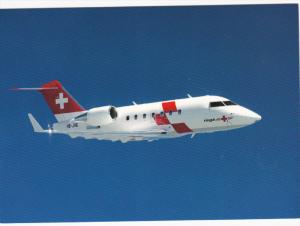 Rega-Ambulanzjet Challenger CL-604 airplane, 70-90s