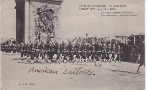 American Sailors, The Procession, July 14th, 1919, Paris, France