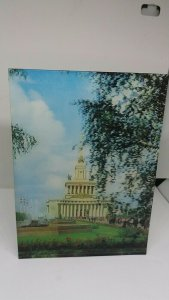 Vintage Postcard Moscow Economic Achievements Exhibition USSR Pavilion 3D Card