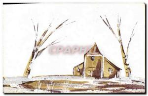 Old Postcard Fancy (drawing hand) House