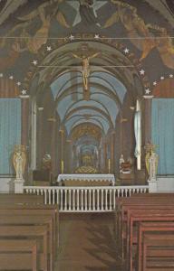 Interior , Star of the Sea Painted Church , KALAPANA , Hawaii , 50-60s