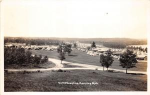 D8/ Grayling Michigan Mi Real Photo RPPC Postcard c40s Camp Grayling Military