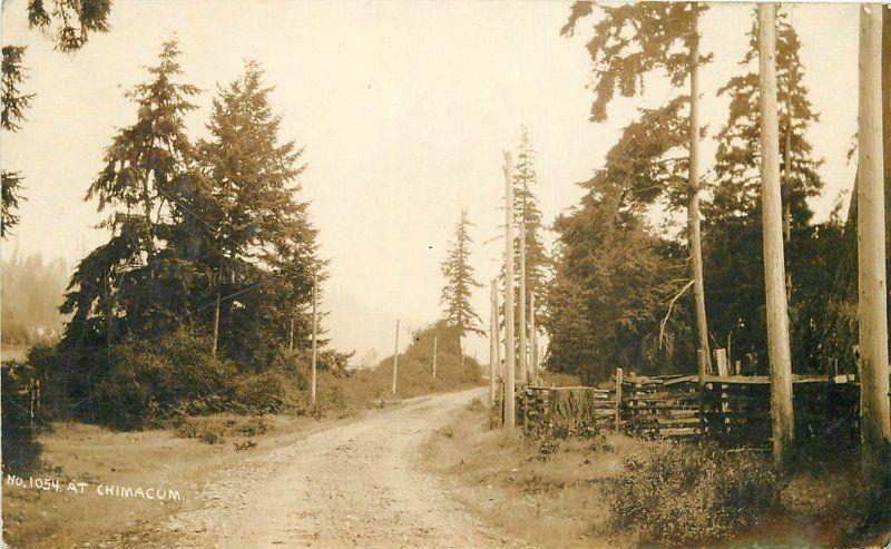 C-1910 Chimacum Washington Rural Road Jefferson County RPPC real photo 2147