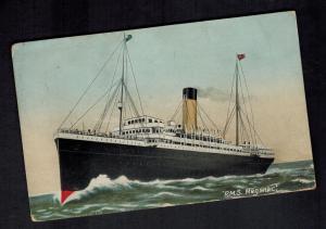 Mint England Ship Picture Postcard RMS Megantic at Sea Passenger Liner