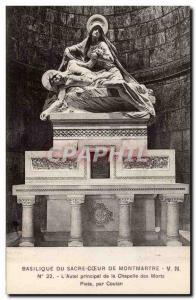 Paris Postcard Old Basilica of the Sacre Coeur of Montmartre L & # 39autel ma...