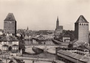 Strasbourg , Germany 30-40s ; Panorama vu des Ponts couverts