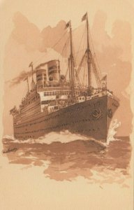 United America Lines , twin-screw Steamer CLEVELAND , 00-10s