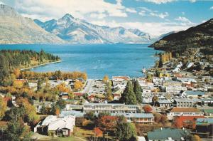 Autumn Trees, View of Lake Wakatipu From Queenstown Hill, Queenstown, New Zea...