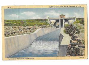Senecaville Dam Wills Creek Muskingum Watershed District Ohio Mailed 1945