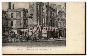 Old Postcard Army Arras Train Station Square