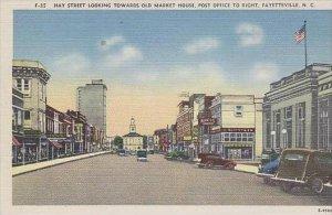North Carolina Fayetteville Hay Street Looking Towards Old Market House Post ...