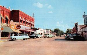Branson Missouri Commercial Street Scene Store Fronts Vintage Postcard K95904