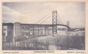 DETROIT, Michigan- WINDSOR, Ontario, Canada, 1900-1910s; Ambassador Bridge