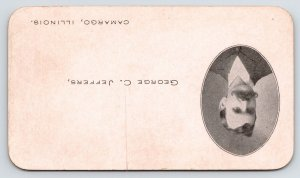 Camargo Illinois~c1884 Banker Calling Card w/Picture in Oval~In Firm w/A W Bragg